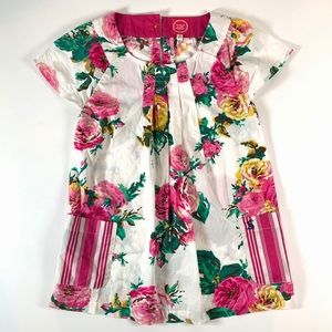 Joules Girl's Pink Floral Shift-Dress